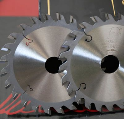 Two Pcs Tct Adjustable Scoring Saw Blades For Cutting Mdf
